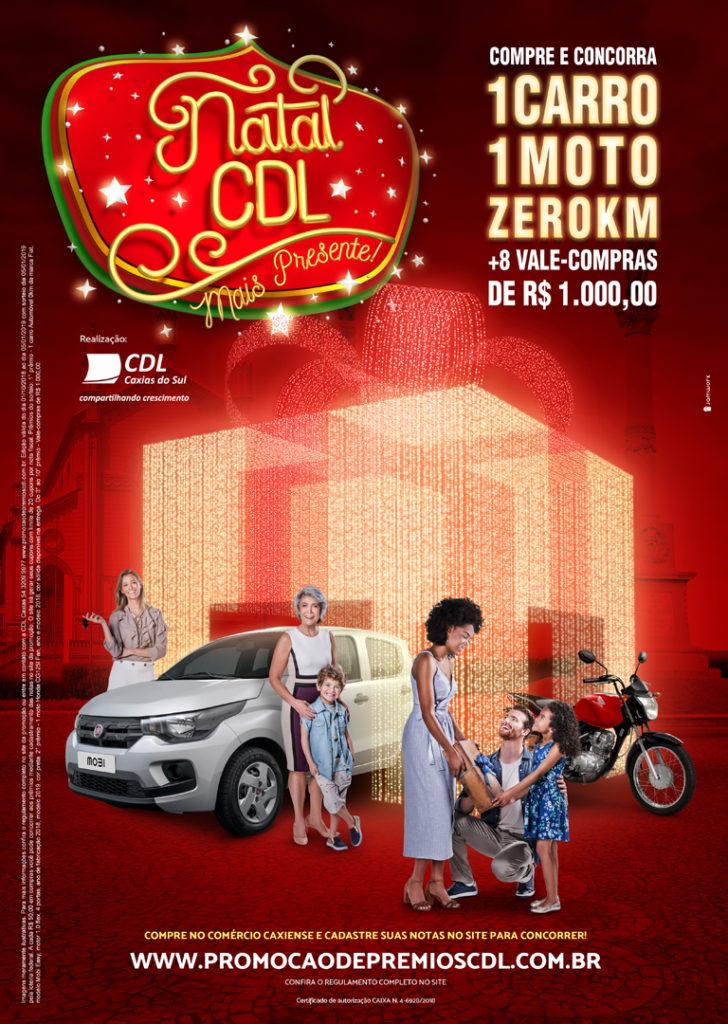 Design Gráfico para campanha de natal da cdl caxias do sul