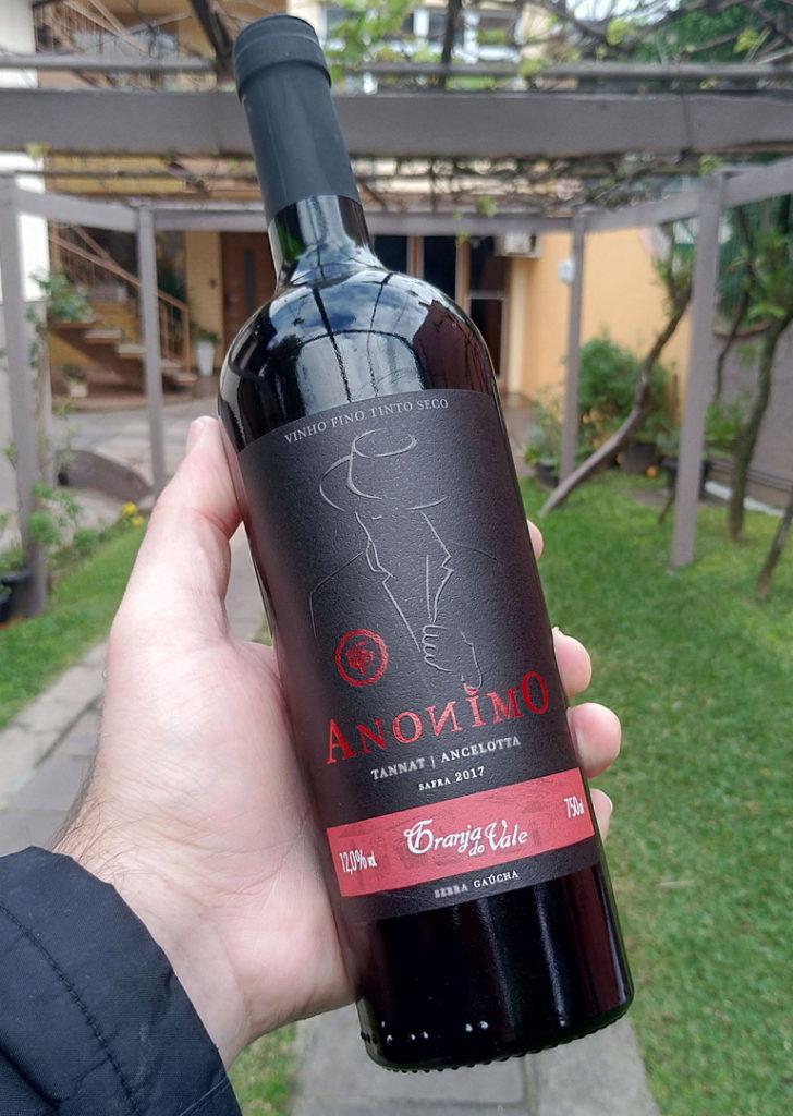 Design Gráfico para rótulo de vinho tannat zanrosso