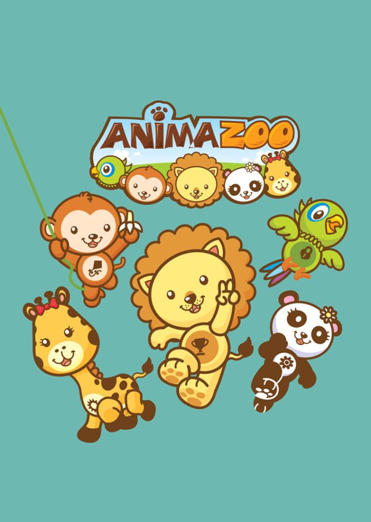 Criação de Personagens para série animada infantil Animazoo