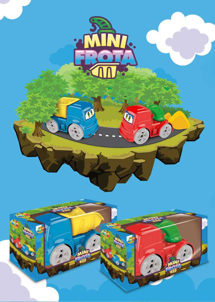 Ilustração para embalagem de brinquedos GGB Plast
