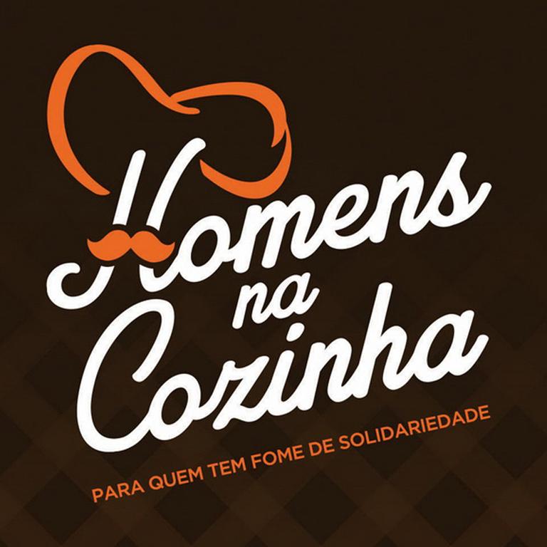 Marca para evento beneficente Homens na Cozinha