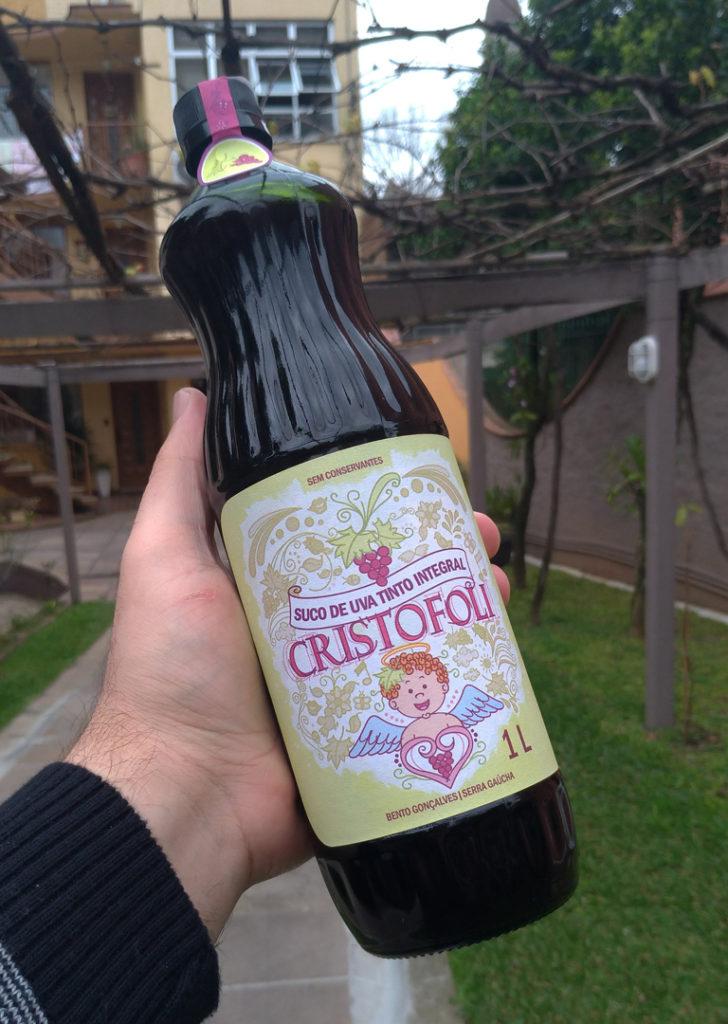 Rótulo para suco de uva vinícola cristofoli