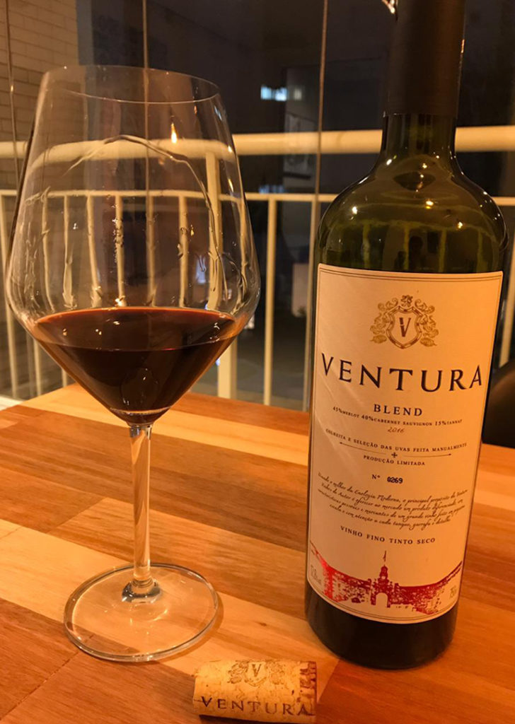 Design Gráfico para rótulo do vinho Ventura