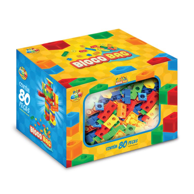 Design de embalagem para blocos de montar da GGB Brinquedos