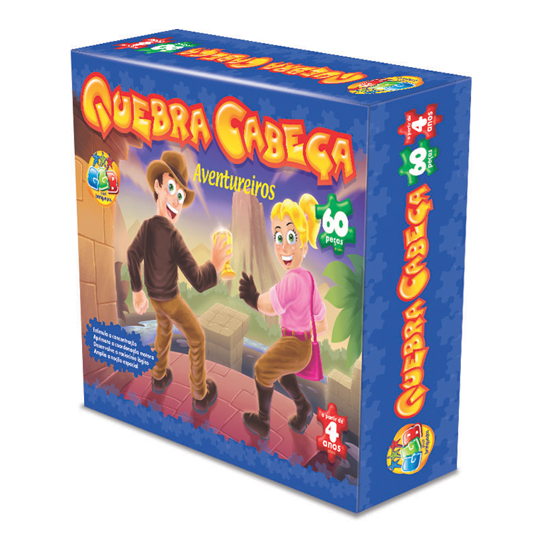 Design de embalagem para quebra cabeças da GGB Brinquedos